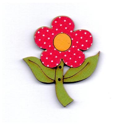 botão-madeira-flor